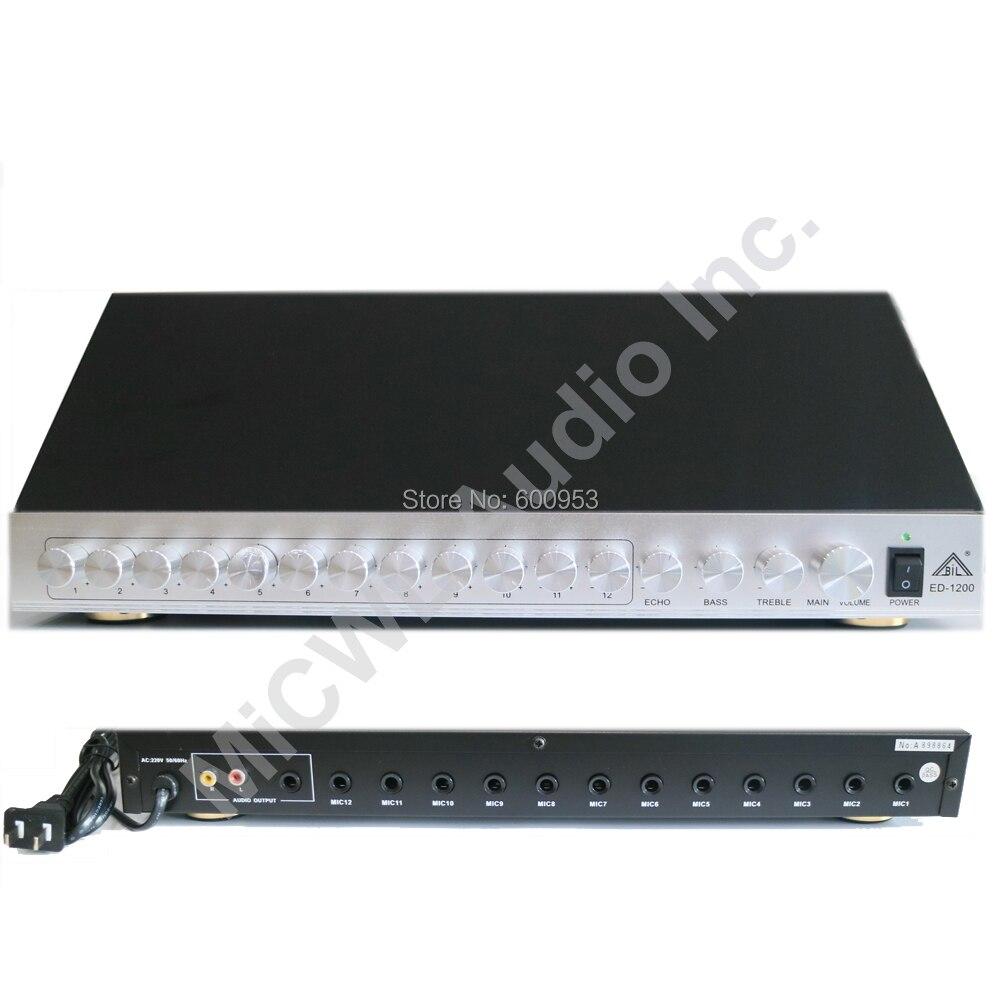 Pro 12 Canal Conferência Reunião Microfone Microfones concentrador HUB pode com 12 botão de controle de Volume do Microfone ECHO BAIXO