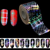 500m*4cm/Roll Holographic Stripe Transfer Foils Nail Foil Paper Polish Glue Transfer Adhesive Sticker DIY Nail Decal