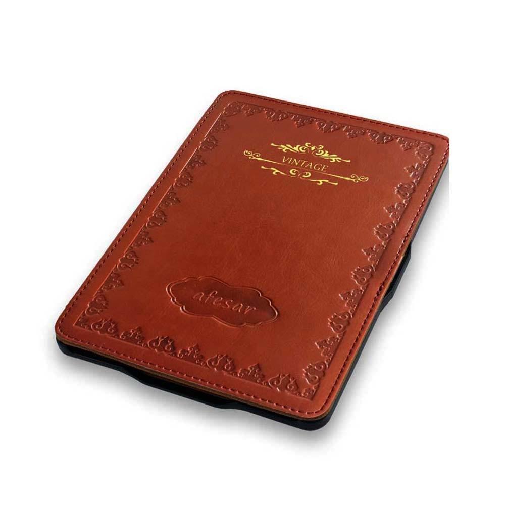 Para kindle paperwhite funda de cuero elegante cubierta de libro de - Accesorios para tablets - foto 3