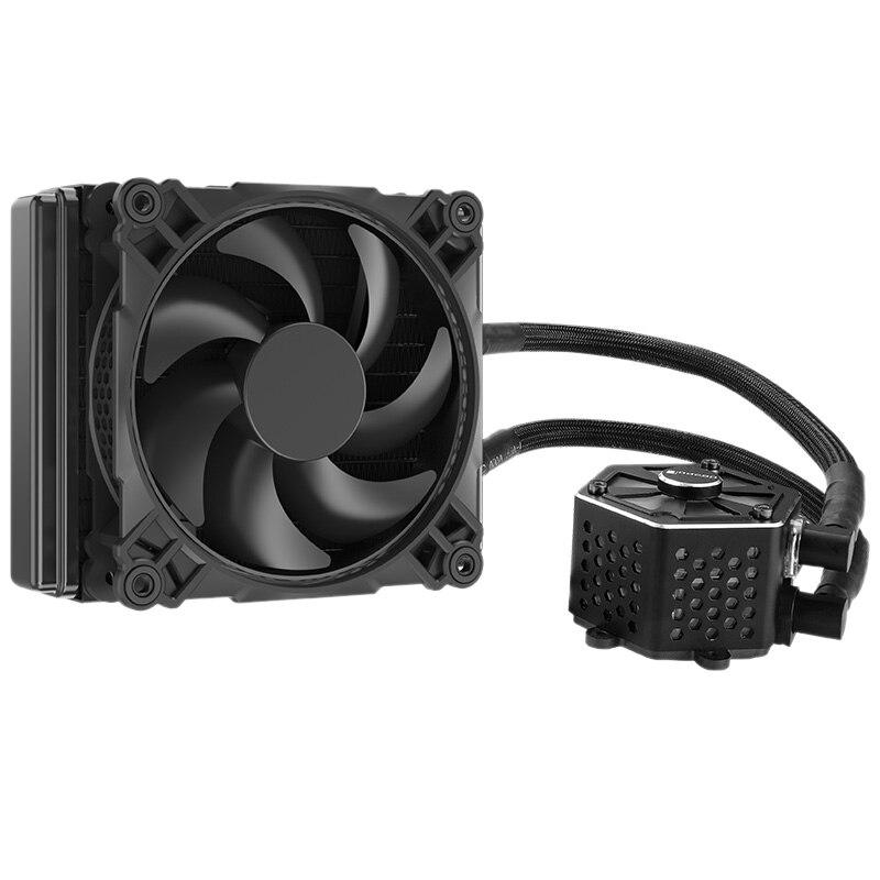 HOT-Jonsbo Tw-120 Cpu refroidissement par eau 4Pin Pwm 12Cm ventilateur Rgb Aura 256 couleur changement automatique Led radiateur pour Amd Intel