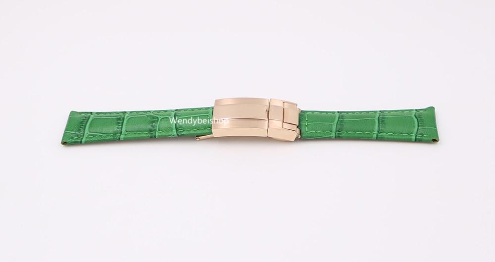 CARLYWET 20mm äkta kalvskinnskinn VINTAGE Lyxig armbandsur - Tillbehör klockor - Foto 6