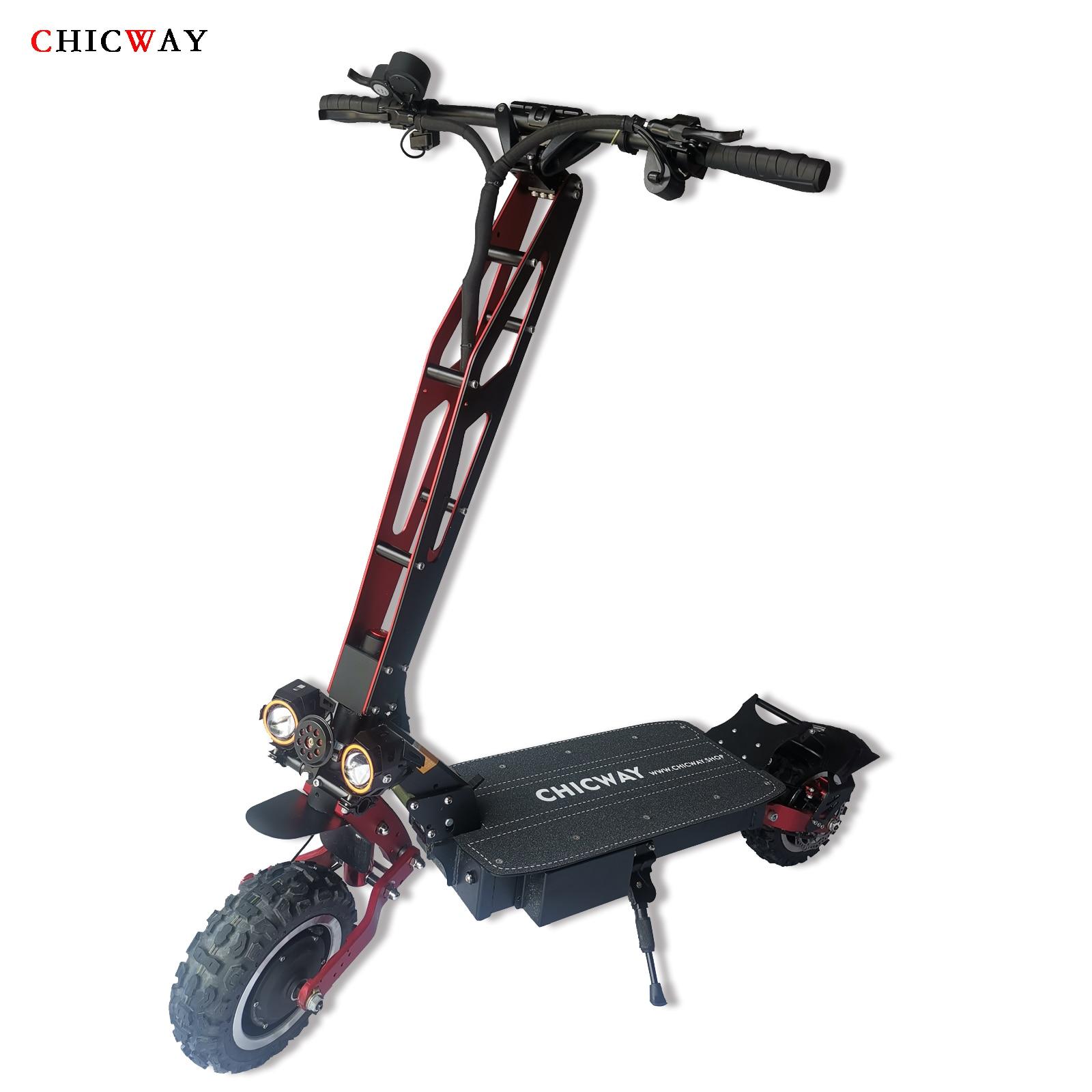 Scooter électrique tout-terrain CHICWAY Spiderman 2019 le plus chaud, double entraînement 3200 W, suspension indépendante, amortisseur hydraulique, 80 km/h