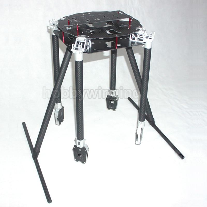 FPV U8, 1200 мм, углеродное волокно, воздушный, БПЛА, складной Квадрокоптер, рама, комплект, поддержка 30 дюймов, proppler