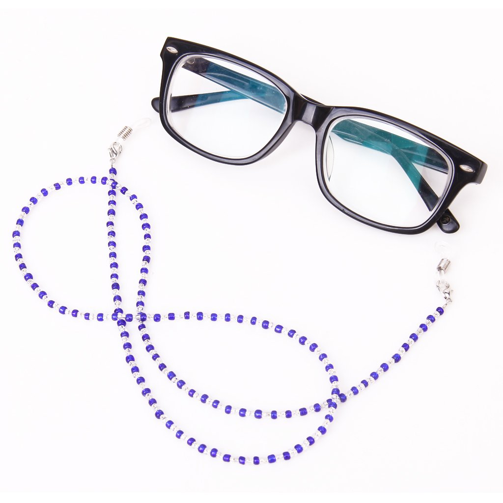 NEW Crystal Glass Fashion Glasses Chain Blue and Clear in Eyewear Accessories from Apparel Accessories