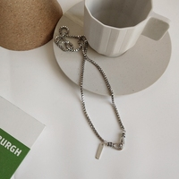 LouLeur 925 sterling silver 3mm box chain necklace silver simple Buckle design elegant personality female necklace fine jewelry