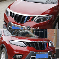 For Nissan X Trail X Trail T32 Rogue 2014 2015 2016 Front Hood Grille Bonnet Strip Trim Cover ABS Chrome Car Styling Accessories