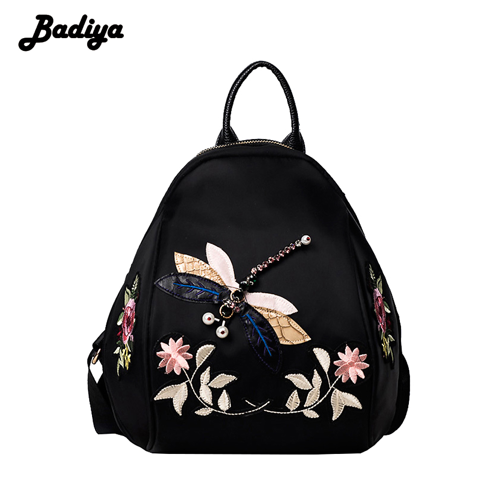 Badiya Floral Embroidery Fashion Backpacks For Women ...