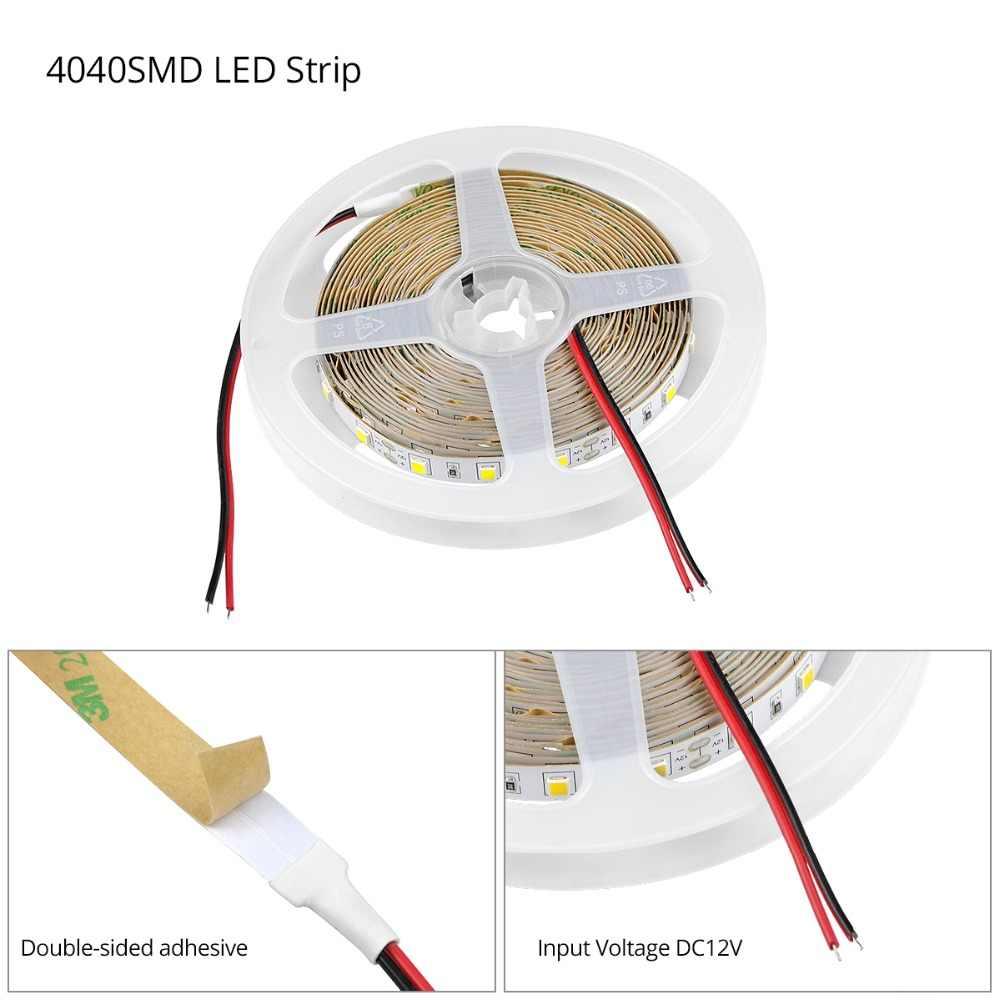 С регулируемой яркостью 5 м Светодиодные ленты задние габаритные огни 12В 4040 SMD сенсорный Сенсор переключатель 110 V-220 V 2A Питание для под шкаф Кухня свет