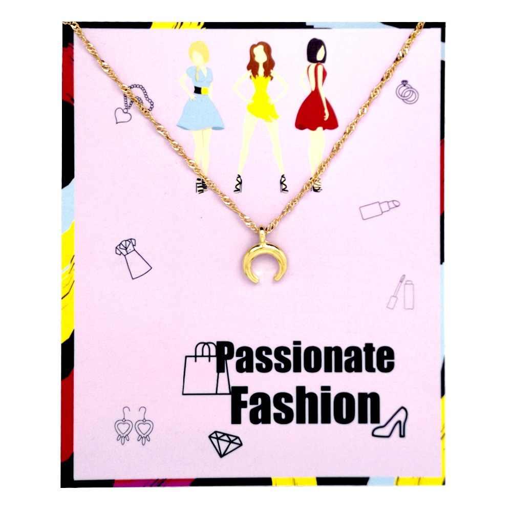 Многостильное ожерелье подвеска Сердце Крест женские модные ювелирные изделия девушка золотой поп подарочная карта в комплекте Звезда Луна