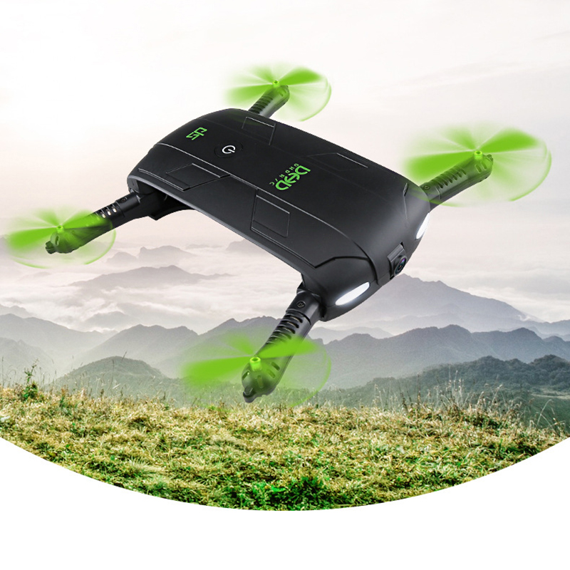 DHD D5 Selfie Drone With Camera Foldable Pocket Rc Drones Phone Control RC Helicopter Fpv Quadcopter Mini Aircraft for Best Gift 2017 new jjrc h37 mini selfie rc drones with hd camera elfie pocket gyro quadcopter wifi phone control fpv helicopter toys gift
