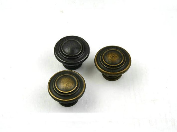Drawer Pulls Knob Dresser Pull Knobs Handles Kitchen Cabinet Pulls Drop Cupboard Vintage Furniture Hardware Antique Bronze Black 4 25 dresser pulls drawer pull handles antique bronze bail cabinet pulls handle knobs furniture door hardware drop swing 108mm