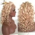 Полный Шнурок Человеческих Волос Парики Блондинка Перуанский Девы Волос Gluless Кружева Передние Человеческих Волос Парики для Черный/Белый Женщины