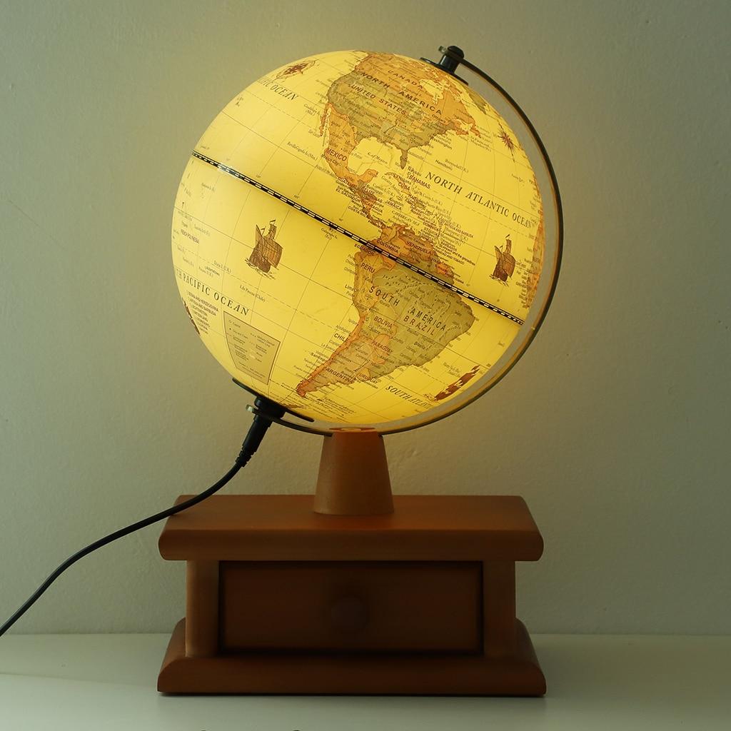 Monde Globe terre carte avec support Antique bureau veilleuse décoration monde géographie jouet éducatif maison bureau décor
