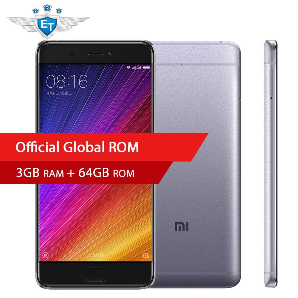 bilder für Original Xiaomi Mi5S 5,15 ''Smartphone 1920x1080 Snapdragon 821 Quad Core FDD LTE 3 GB RAM 64 GB ROM 12.0MP IMX378 Fingerabdruck NFC