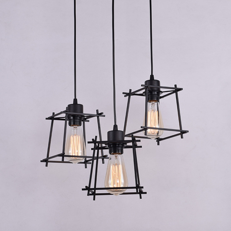 Loft Industrial Warehouse Pendant Lights American Country Lamps Vintage Lighting for Restaurant/Bedroom Home Decoration Black loft industrial warehouse pendant lights american country lamps vintage lighting for restaurant bedroom home decoration