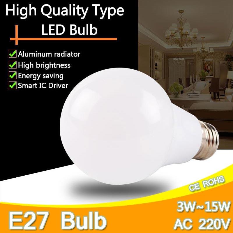 aluminum led lamp light e27 e27 3w 5w 7w 9w 12w. Black Bedroom Furniture Sets. Home Design Ideas