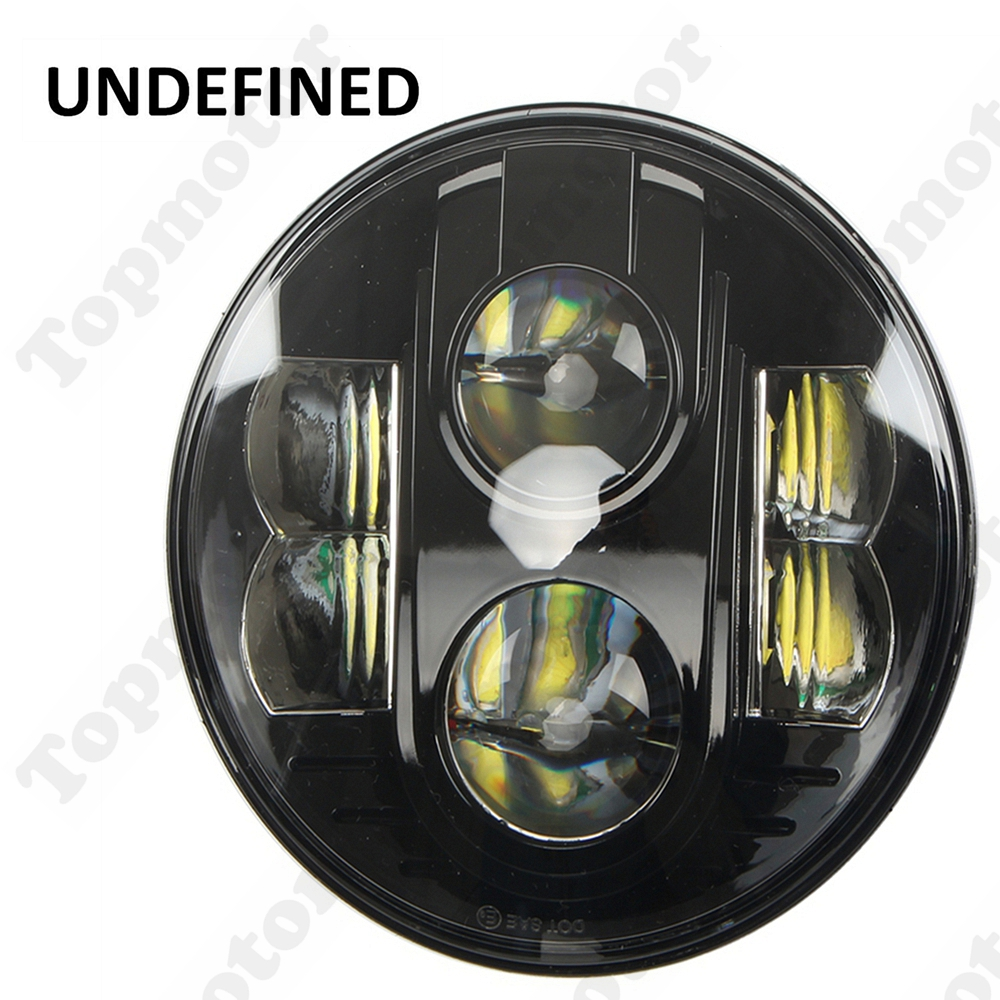 Motorcycle Accessories Black 7inch 80W Round LED Projector Daymaker Front Headlight DRL For Harley -I UNDEFINED 7inch motorcycle daymaker replacement led headlight