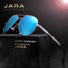 JARA Men HD Fashion Alloy Driving Polarized Sunglasses Women Aluminum Magnesium Newest Designer Coating Lens Sun Glasses 6695