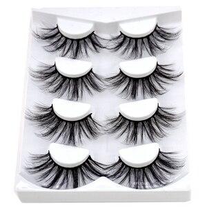 Image 3 - 4/9 Pairs 3D Mink Hair False Eyelashes Criss cross Wispy Cross Fluffy length 16 25mm Lashes Extension Handmade Eye Makeup Tools