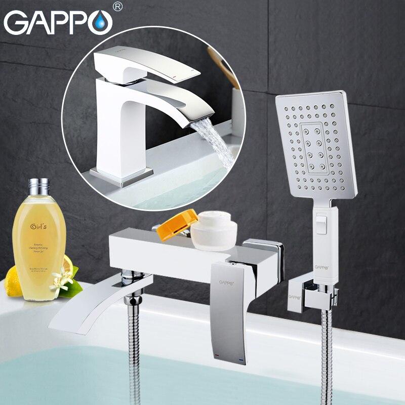 GAPPO blanc Robinets De Douche baignoire mélangeur baignoire robinets bassin robinet bassin évier l'eau du robinet mélangeurs de douche système