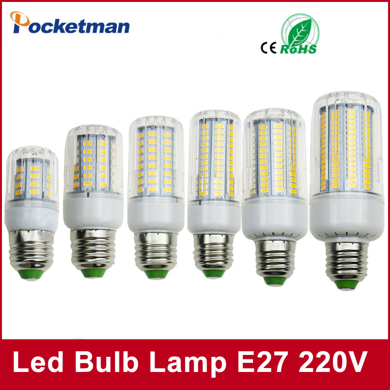 LED Bulb SMD5736 E27 E14 LEDs Lamp Light 50W 40W 30W 25W 15W 12W 7W Incandescent replace 220V Spotlight Corn LED Lights for home 50w e27 120 leds ufo light bulb