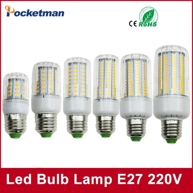 LED Bulb SMD5736 E27 E14 LEDs Lamp Light 50W 40W 30W 25W 15W 12W 7W Incandescent replace 220V Spotlight Corn LED Lights for home