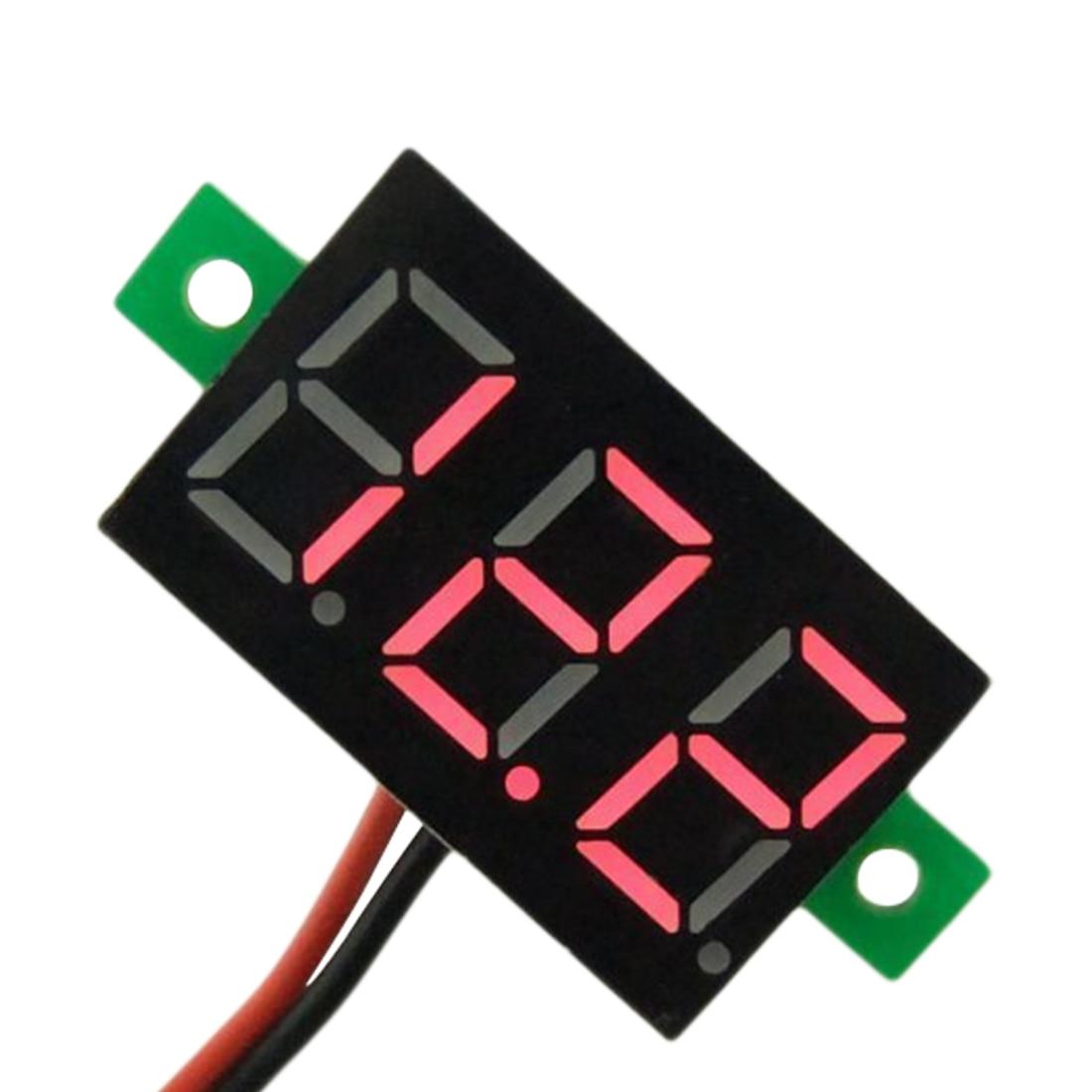 4.5V-30V Red Led Display Mini Digital Voltmeter Tester Voltage Panel Meter For Electromobile Motorcycle Car