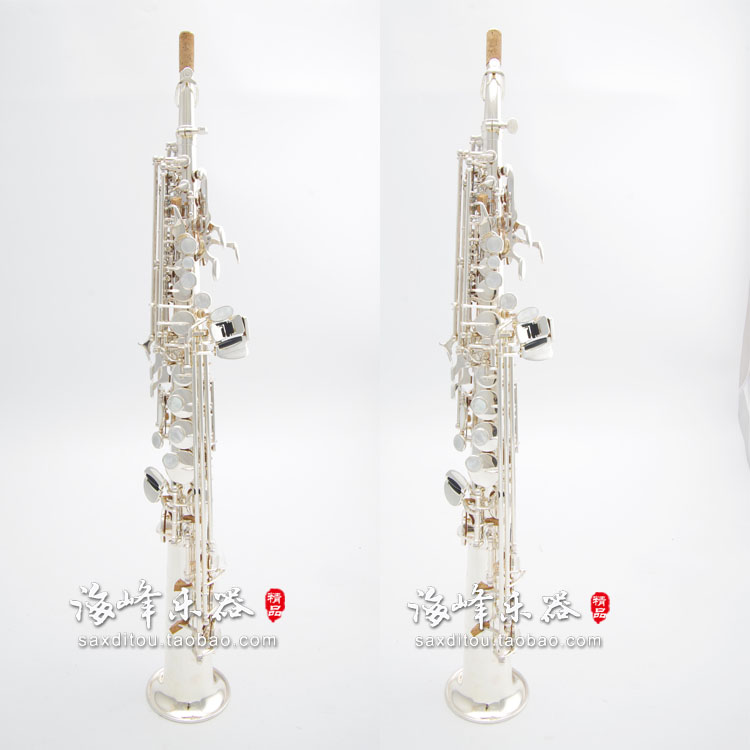 Japon YANAGISAWA saxophone soprano S-981 Argent platingS981 Sax En Laiton clé D'or Professionnel instrument de musique avec le cas