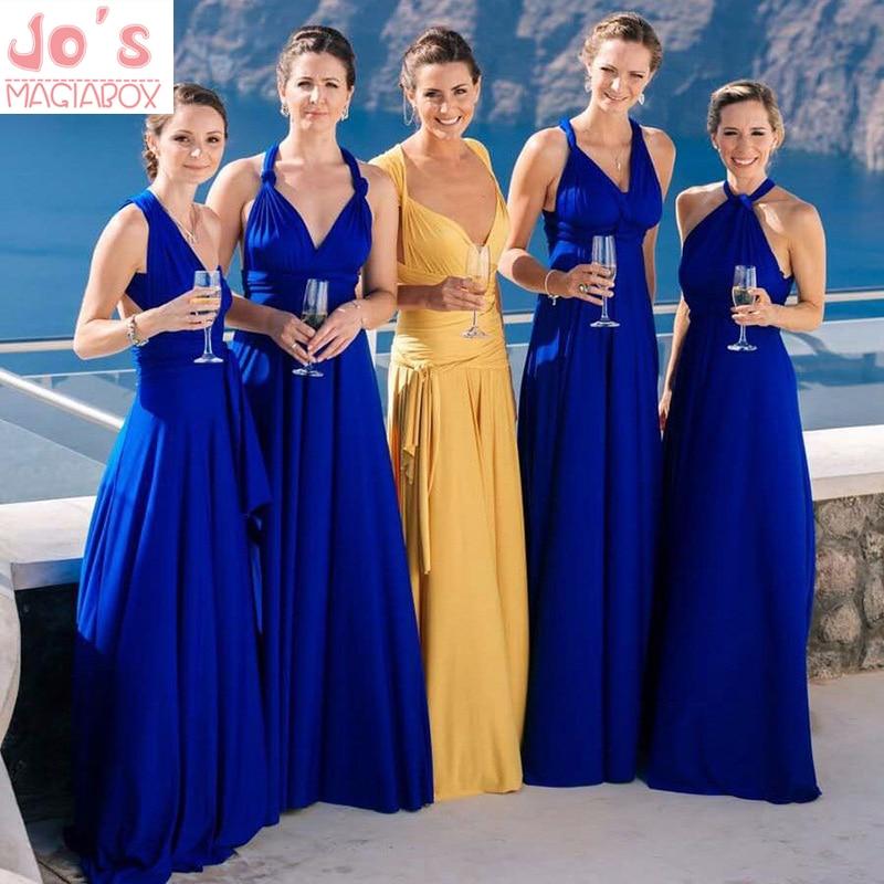 Robe Longue Sexy femmes Multiway Wrap Convertible Boho Maxi Club Robe rouge Bandage fête demoiselles d'honneur Robe Longue