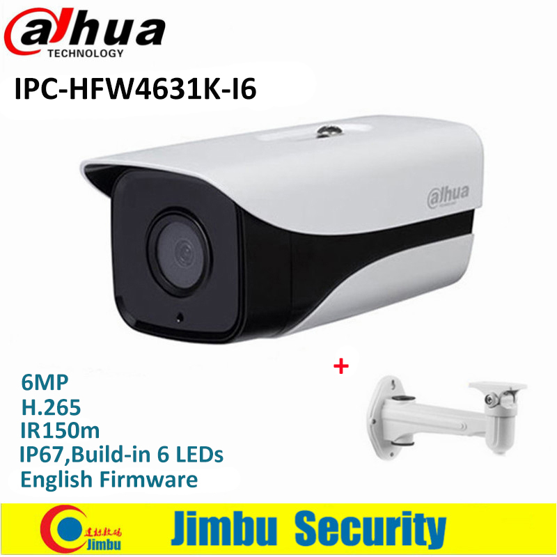 Dahua 6Mp Stellar Bullet Outdoor IP Camera IPC-HFW4631K-I6 H.265 IR 150m Built-in 6LEDs IP67 POE Security CCTV Camera dahua security ip camera outdoor camera