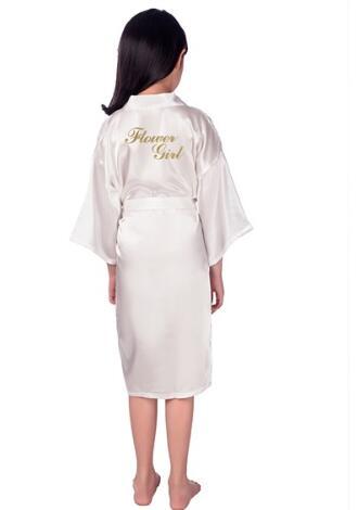 Bridesmaid of Baby Flower Girls Robe For Bride Wedding Party Children Kids Kimono Bath Gown Child Sleepwear Nightdress