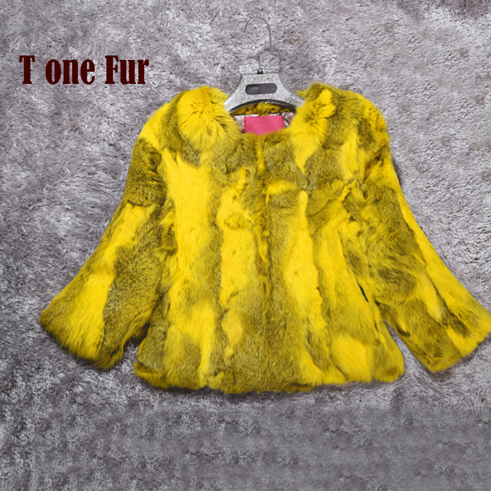 2019 New Genuine Rex Rabbit Fur Coat Real Fur Waistcoat Nature Pure Factory Hot Wholesale Jacket Colorful Overcoat KFP877(China)