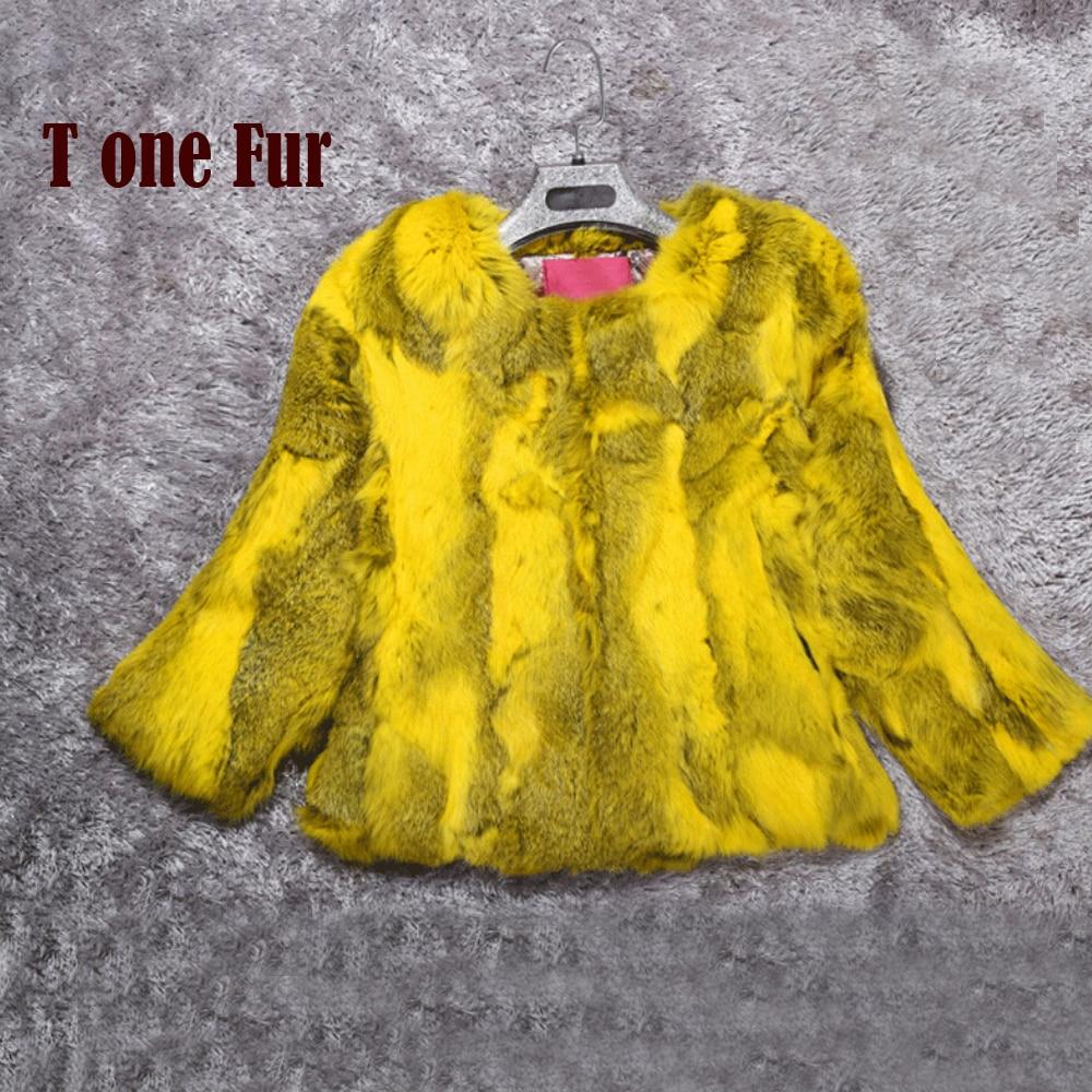 2019 New Genuine Rex Rabbit Fur Coat Real Fur Waistcoat Nature Pure Factory Hot Wholesale Jacket Colorful Overcoat KFP877