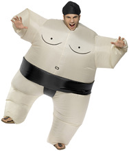 Halloween Inflatable Sumo Suits Wrestler Costume Outfits Fat Man Airblown Sumo Run Color Run Marathon Cosplay Purim Kids Adults