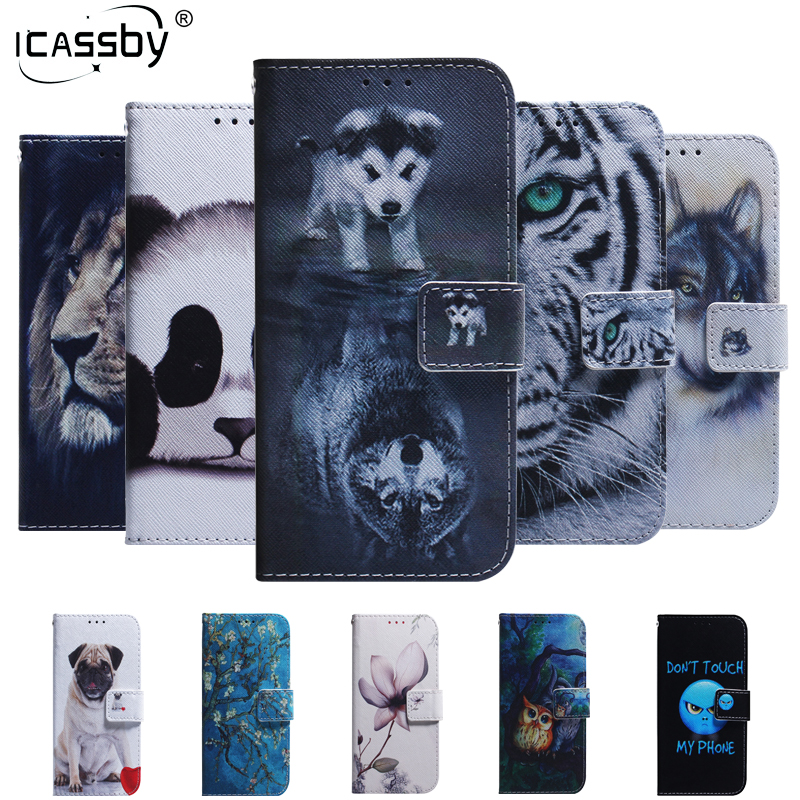 For Huawei Honor 8S Case Wolf Panda Magnetic Flip Wallet Cover For Huawei Y5 2019 Y52019 Huawie Huawai Honor 8s 8 S Coque image