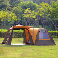 5 8 People Windproof Sunscreen Tent Double Layer Large Space Tent Outdoor Family Party Tent Hiking Camping Beach Tent