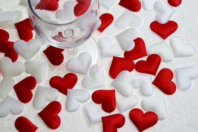 50pcs fabric heart home wedding decorationvalentines day decoration mariage table birthday party - Aliexpress Decoration Mariage