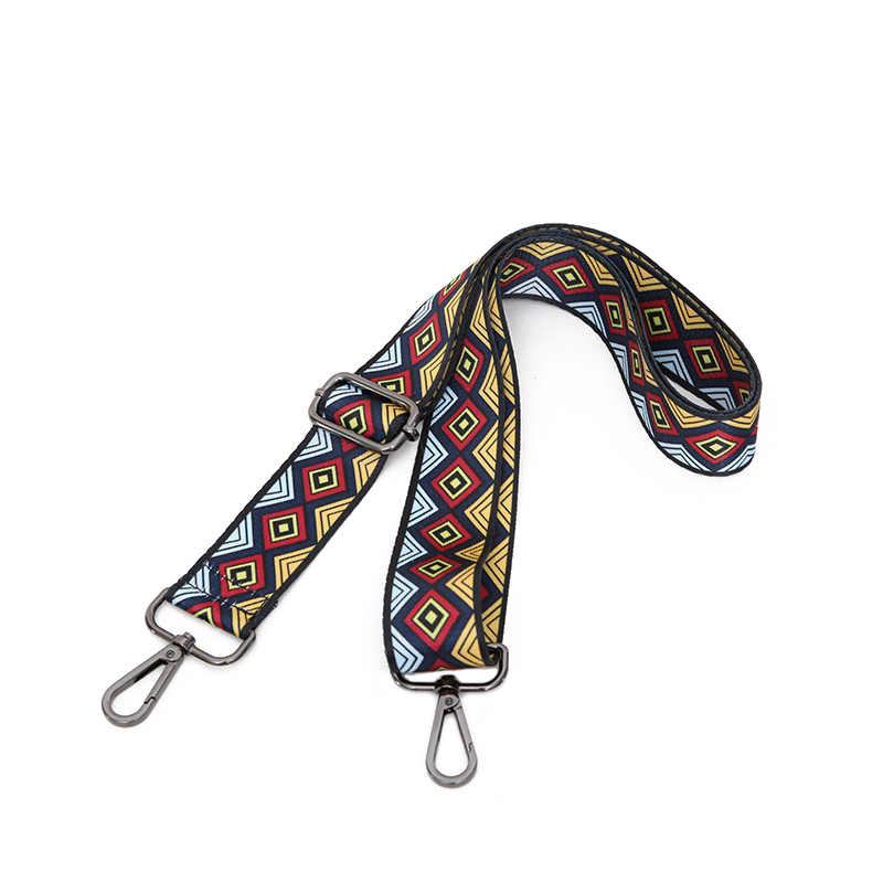 2019 новые сумки на ремне в клетку дизайн национальная Золотая Пряжка холщовые ремни для сумок новые модные легко держать Наплечные ремни qn306