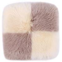 Natural sheepskin seat pad 40x40cm sofa cushion colorful cushion for home decor square cat pillow dog pad fur seat cushion