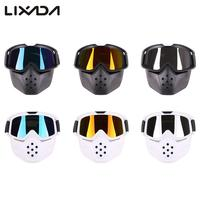 Bicycle Mask Goggles Mask Motocross Face Mask Glasses Detachable Helmet Goggles Windproof Anti dust Outdoors
