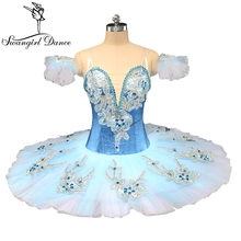 fe8eb311f067f Adult classical ballet tutu blue pancake platter tutu costume performance  competition professional tutus ballerina dress BT9142