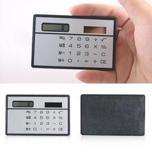 1pc mini calculadora solar função de cartão de crédito calculadora bolso calculadora novidade pequeno homem magro mulher presentes