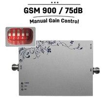 GSM 900 부스터 75dB 이득 휴대 전화 신호 부스터 25dBm 수동 및 지능형 제어 900mhz 핸드폰 증폭기 리피터 #28