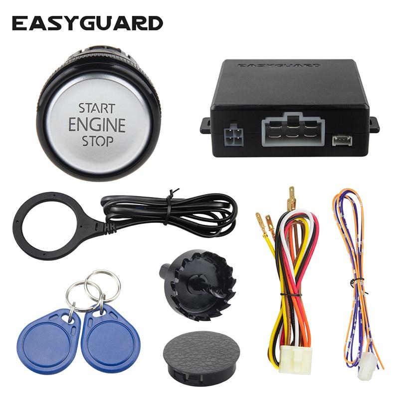 EASYGUARD Radio Frequency Identification keyless go system car alarm with transponder arm disarm easy to use