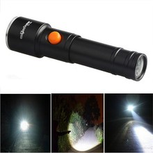 1Pc Hot Selling Zoom 3000 Lumens 3 Modes  XML T6 LED  Flashlight Torch Lamp Light  VEM52
