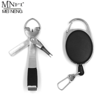 MNFT 1Set Fly Fishing Line Scissors Cutter Nipper Snips Hook Lure Tying Fast Knot Device Clipper Hook Sharpener Zinger Retractor