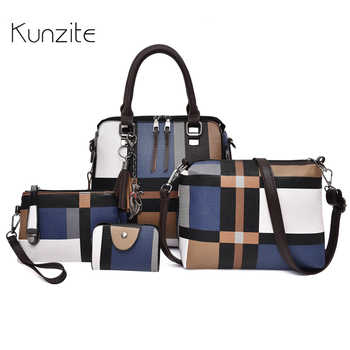 Luxury Handbags Women Bags Set Pu Leather Designer Striped Messenger Sack Bags Daily Use Tote with Purse Casual Shoulder Bag Sac - SALE ITEM Luggage & Bags
