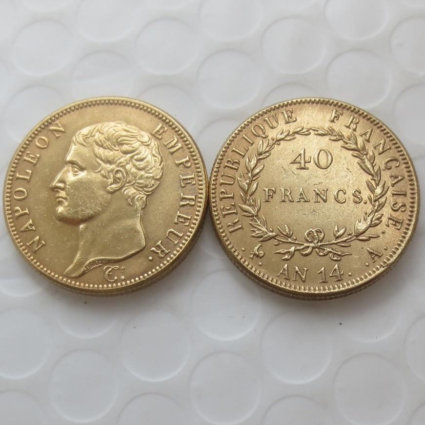 AN 14-A 40 Francs Gold Coin - Napoleon Gold COPY coin