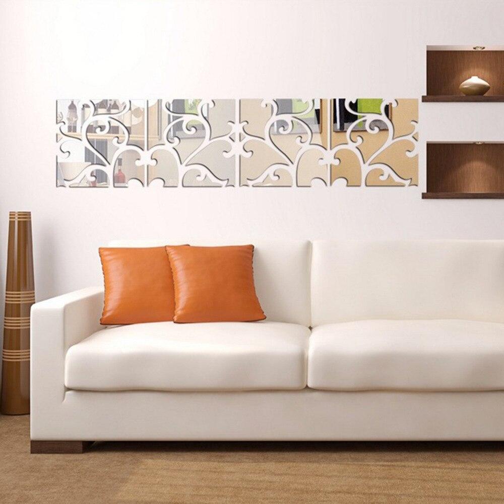 Aliexpress.com : Buy Flower Vine Mirror Wall Stickers ...
