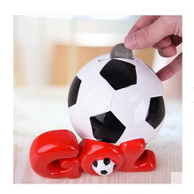 Football piggy bank children creative large deposit box cute cartoon birthday gift home furnishing artefacts